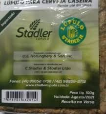 Lupulo prensado marca stadler 100 gramas