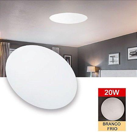 Painel Luminaria Plafon Sobrepor Led 20w Redondo 6500k