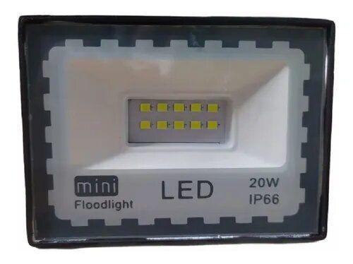 Mini Refletor Holofote Microled Branco Frio 20w Ip66 120°