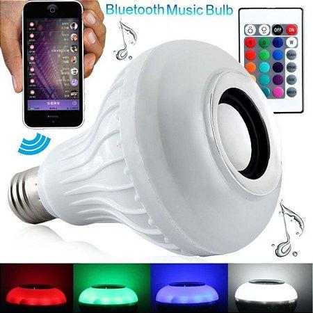 Lâmpadas Bluetooth Rgb Musical Caixinha De Som Música