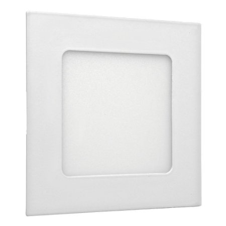 Painel Plafon 6w Led Quadrado Teto Embutir Branco Frio
