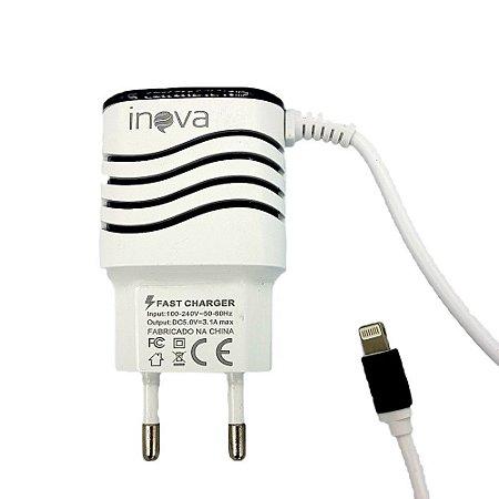 Carregador Rápido para Smart 3.1A Tipo C Com 2 Saídas USB Branco  CAR-8516 - Inova