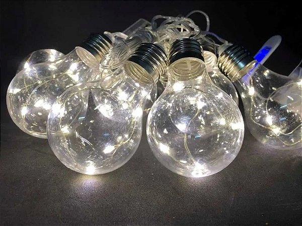 Cordão 10 Lâmpadas 40 Leds Fio De Fada Arame 3,6m Decoração