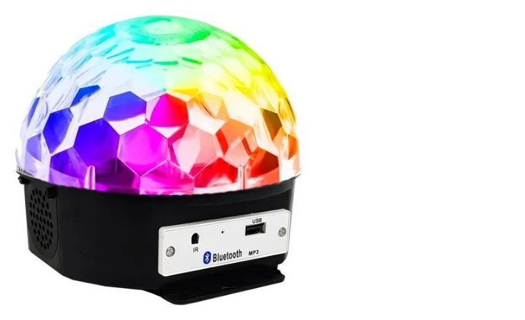 Bola Maluca Globo Festas Usb Sd Mp3 Luz  Bluetooth RGB