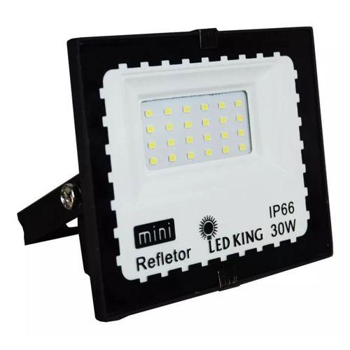 Refletor  mini Holofote Led 30w Ip66 Branco Frio - Bivolt