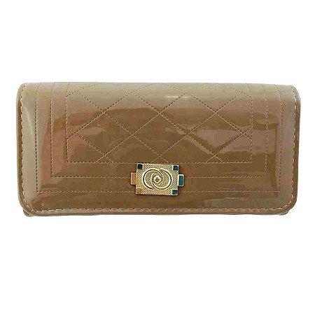 Bolsa carteira feminina grande marrom
