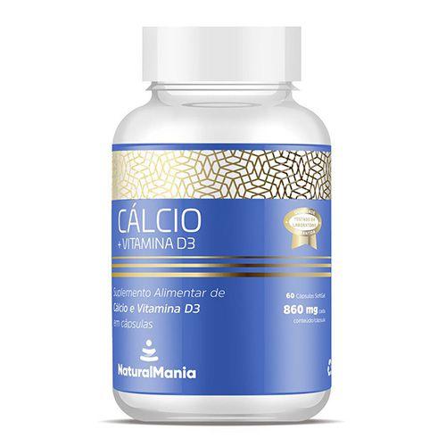Suplemento de Cálcio + Vitamina D com 60 cápsulas