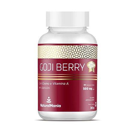 Goji Berry com cromo e vitamina A com 60 cápsulas