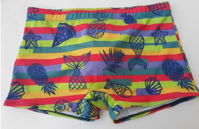 Sunga de Praia Boxer Color Fruits