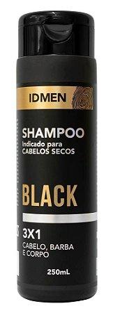 SHAMPOO 3X1 BLACK PARA CABELOS SECOS 250mL