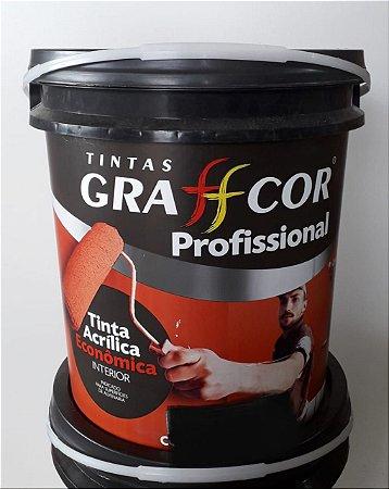 TINTA GRAFFCOR ACRILICO PROFISSIONAL BRANCO 18 LT 3°- LINHA (A VISTA)