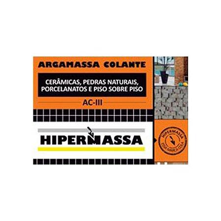 Argamassa Hiperm Colante AC-III Cinza 20kg Piso/Piso Int