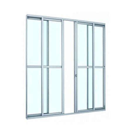 Porta Alumínio Branco 4 Folhas 200x210