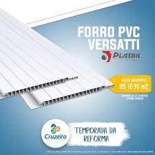 FORRO PVC PLASBIL VERSATTI 7mm x 200mm BRANCO M2 A VISTA