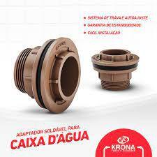 ADAPTADOR PARA CAIXA DE AGUA COM FLANGE 85mm KRONA