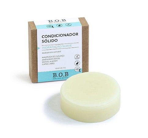 Condicionador Sólido Natural HIDRATAÇÃO SUAVE Cabelos Normais a Oleosos 55g |B.O.B