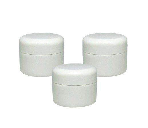 Pote para Creme Aromaterapia Capacidade 15g branco c/ batoque vedação (3 unidades)