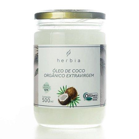Óleo Coco Orgânico 500ml | Herbia