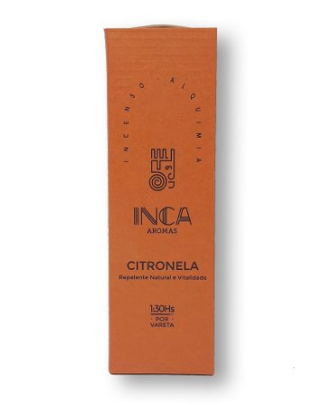 Incenso Terapêutico Natural CITRONELA | Inca Aromas
