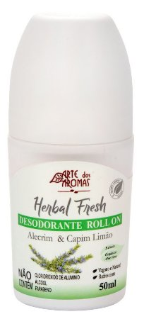 Desodorante Roll on Alecrim & Capim Limão 50ml |Arte dos Aromas