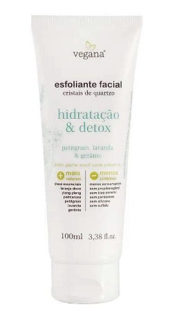 Esfoliante Facial Cristais de Quartzo 100ml|Vegana