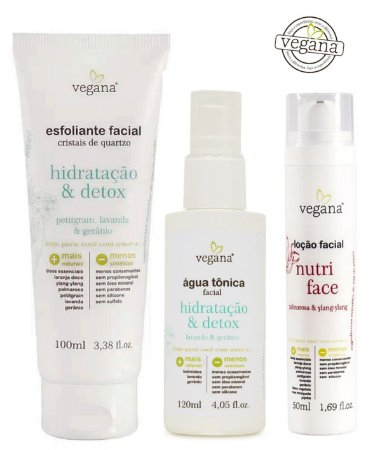 Kit Tratamento Facial Detox e Controle de Oleosidade|Vegana