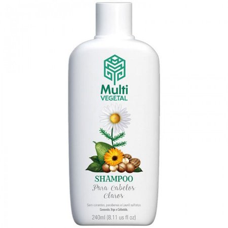 Shampoo para Cabelos Claros 240ml | Multivegetal