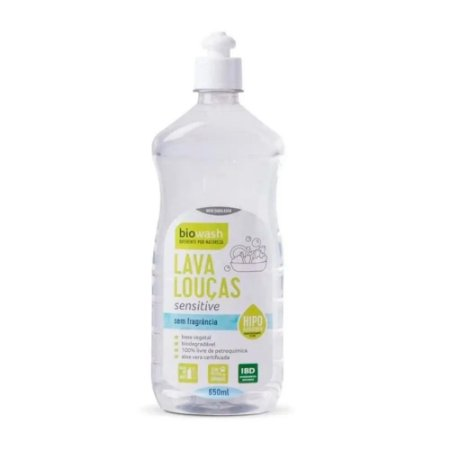 Lava Louças Sensitive Sem Fragância 650ml | Biowash