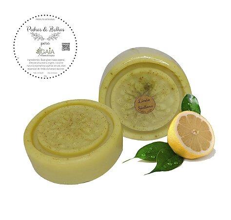 Sabonete Vegetal Artesanal Limão Siciliano 80gr | Pedras & Bolhas
