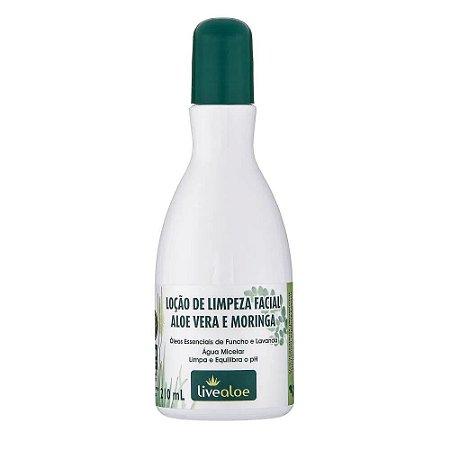 Loção de Limpeza Facial Aloe Vera e Moringa 210ml | LiveAloe