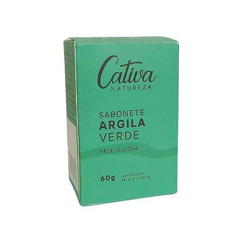 Sabonete Argila verde Pele Oleosa 60g | Cativa Natureza