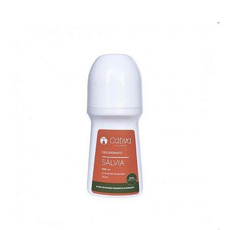 Desodorante Roll on Natural Sálvia 70ml |Cativa Natureza