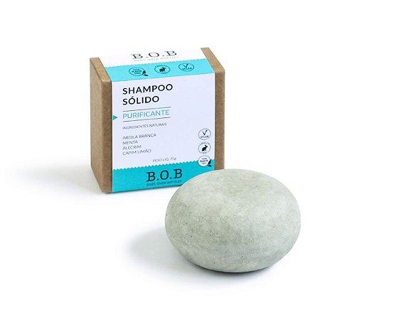 Shampoo Sólido Natural PURIFICANTE Cabelos Mistos a Oleosos 80g | B.O.B