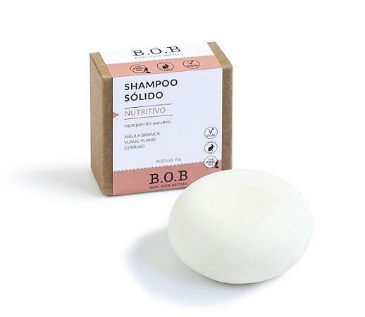 Shampoo Sólido Natural NUTRITIVO Cabelos Normais a Secos 80g   B.O.B