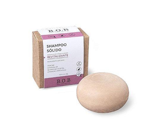 Shampoo Sólido Natural REVITALIZANTE Cabelos Danificados por Química  80g   B.O.B