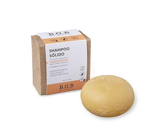 Shampoo Sólido Natural HIDRATANTE Cabelos Cacheados e Crespos 80g   B.O.B