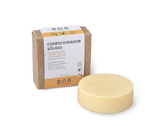 Condicionador Sólido Natural MODELADOR Cabelos Cacheados e Crespos 55g | B.O.B