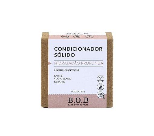 Condicionador Sólido Natural HIDRATAÇÃO PROFUNDA Cabelos Normais a Ressecados 55g | B.O.B
