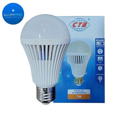 Lampada Led Bulbo Emergencia A60 7W De Emergencia CTB