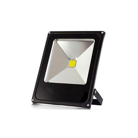 Refletor Holofote Led Branco Quente 30w Bivolt Resistente Agua