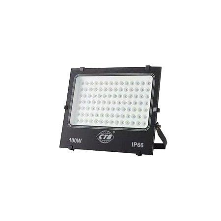 Refletor Holofote Led Luz Branca CTB 100w Bivolt Resistente Agua