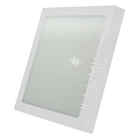 Luminária Painel Plafon Led 12w Quadrado Sobrepor
