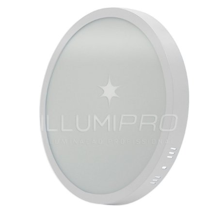 Luminária Painel Plafon Led 12w Redondo Sobrepor