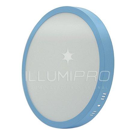 Luminária Painel Plafon Led 25w Redondo Sobrepor Colorido