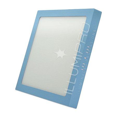 Luminária Painel Plafon Led 18w Quadrado Sobrepor Colorido
