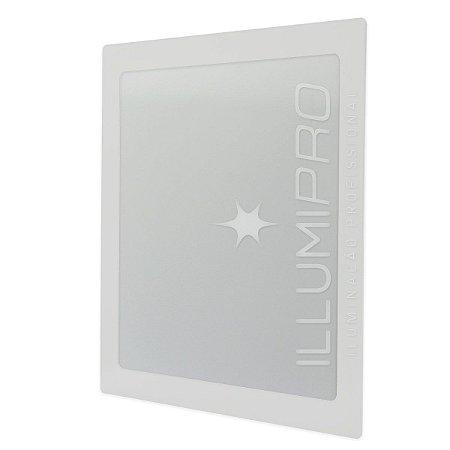 Luminária Painel Plafon Led 12w Branco Quente Quadrado Embutir