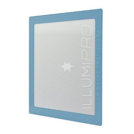 Luminária Painel Plafon Led 12w Quadrado Embutir Colorido