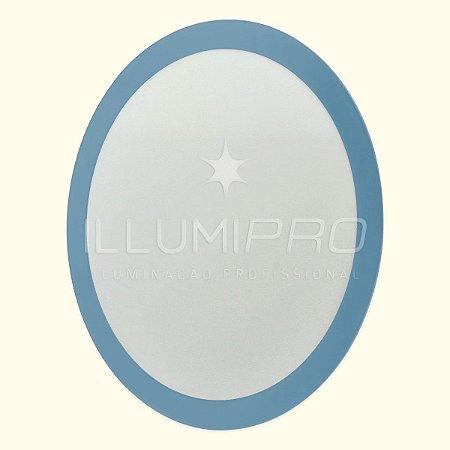 Luminária Painel Plafon Led 6w Colorido Redondo Embutir