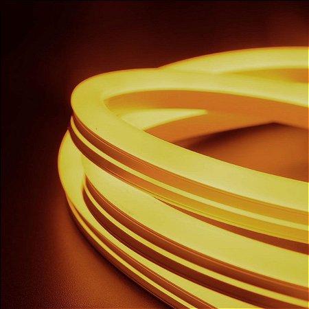 Fita Led Neon 220v Âmbar CTB 50 mts c/ conector