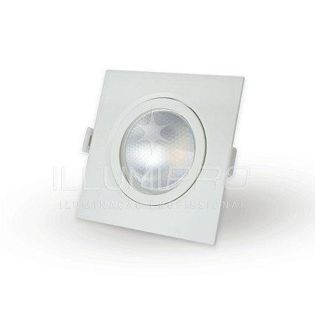 Spot Embutido Sem Lâmpada Quadrado Par20 Direcionável Brilia